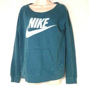Vtg Nike Rally Sweatshirt Kangaroo Pocket Size M